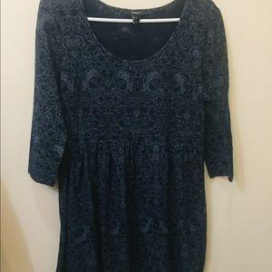 Cute Dark Blue Paisley Forever 21 Dress
